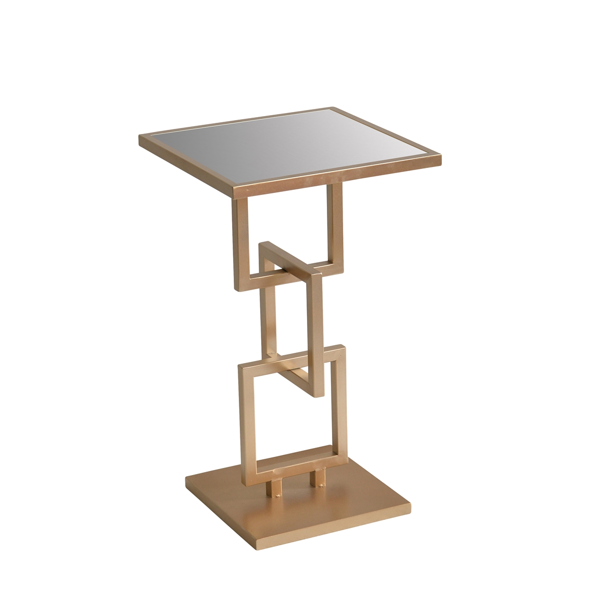 metal accent table mirror top gold sagebrook home inch square tablecloth old coffee pub style kitchen plastic patio side console cabinets target dining room replica retro