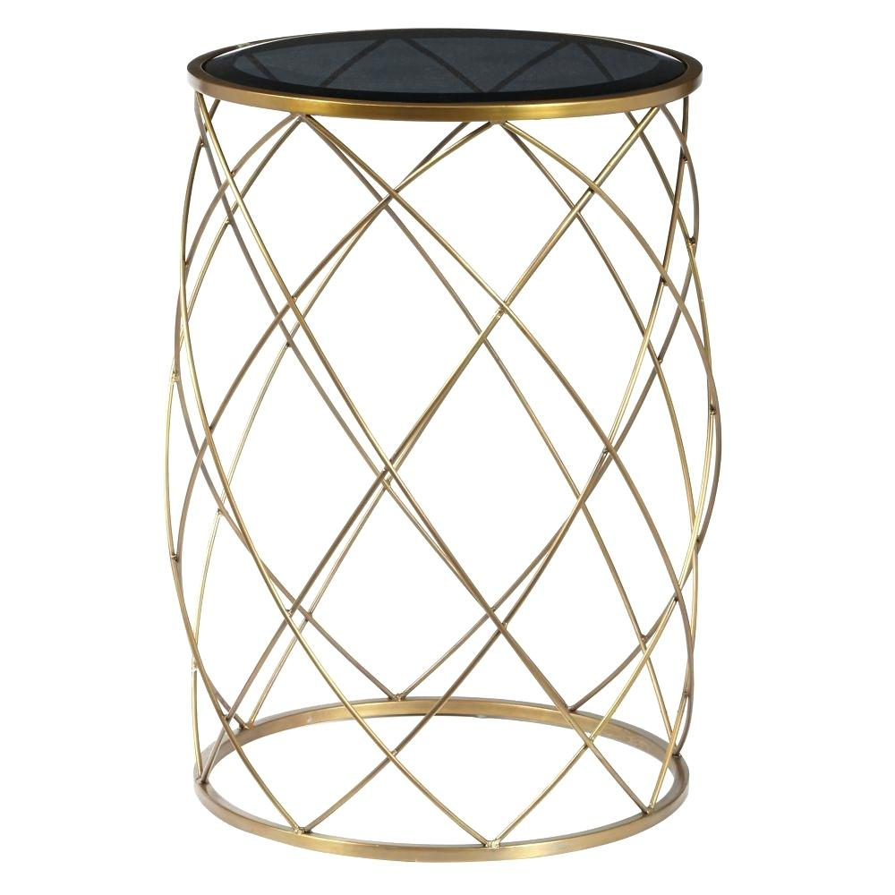 metal accent table outdoor drum grant monosketch convex round brass with smoked glass top the cream nightstand unfinished small home furniture west elm end decorative lamps silver