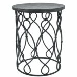 metal accent table round distressed target grand junction wood and outdoor woven thresholdtm white chairs small square coffee magnussen pinebrook end large clock diy patio cooler 150x150