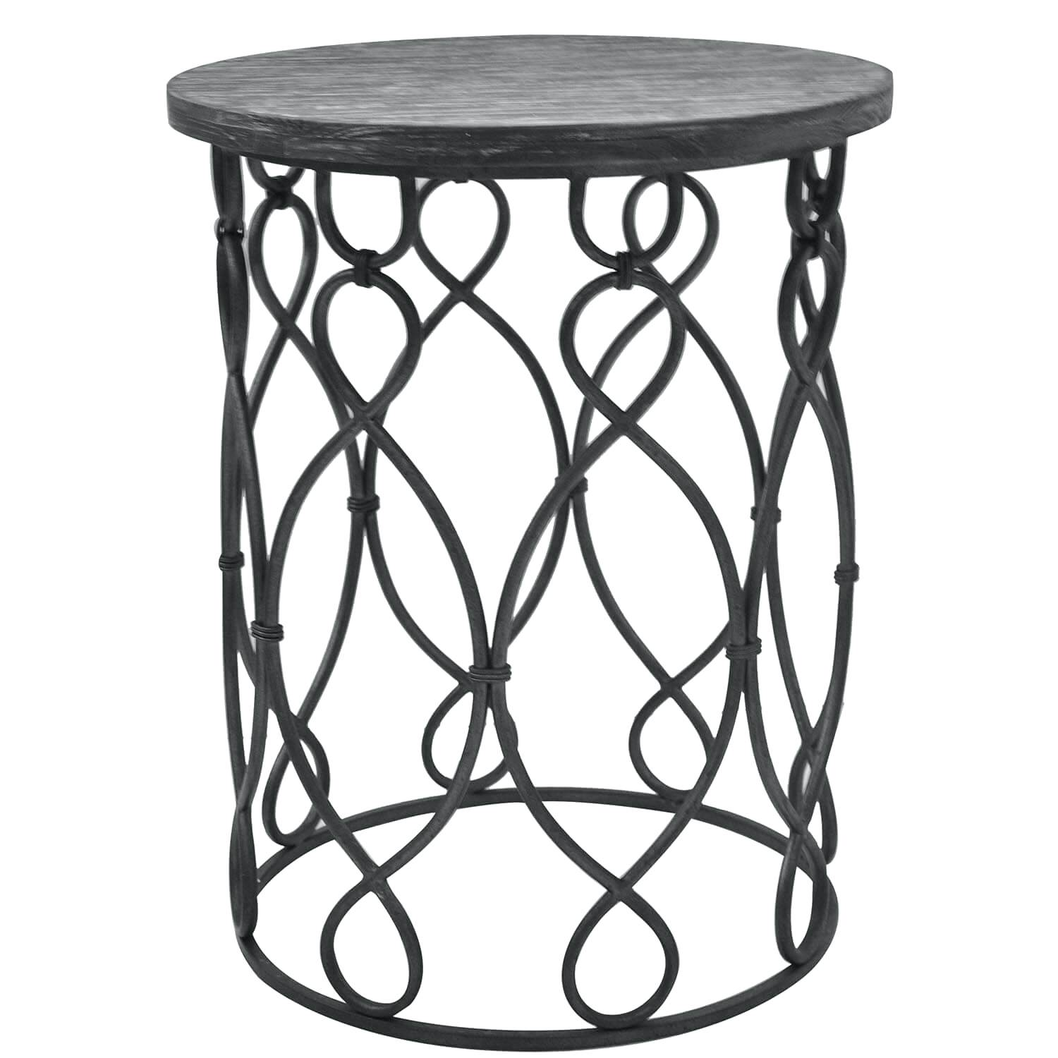 metal accent table round distressed target grand junction wood and outdoor woven thresholdtm white chairs small square coffee magnussen pinebrook end large clock diy patio cooler