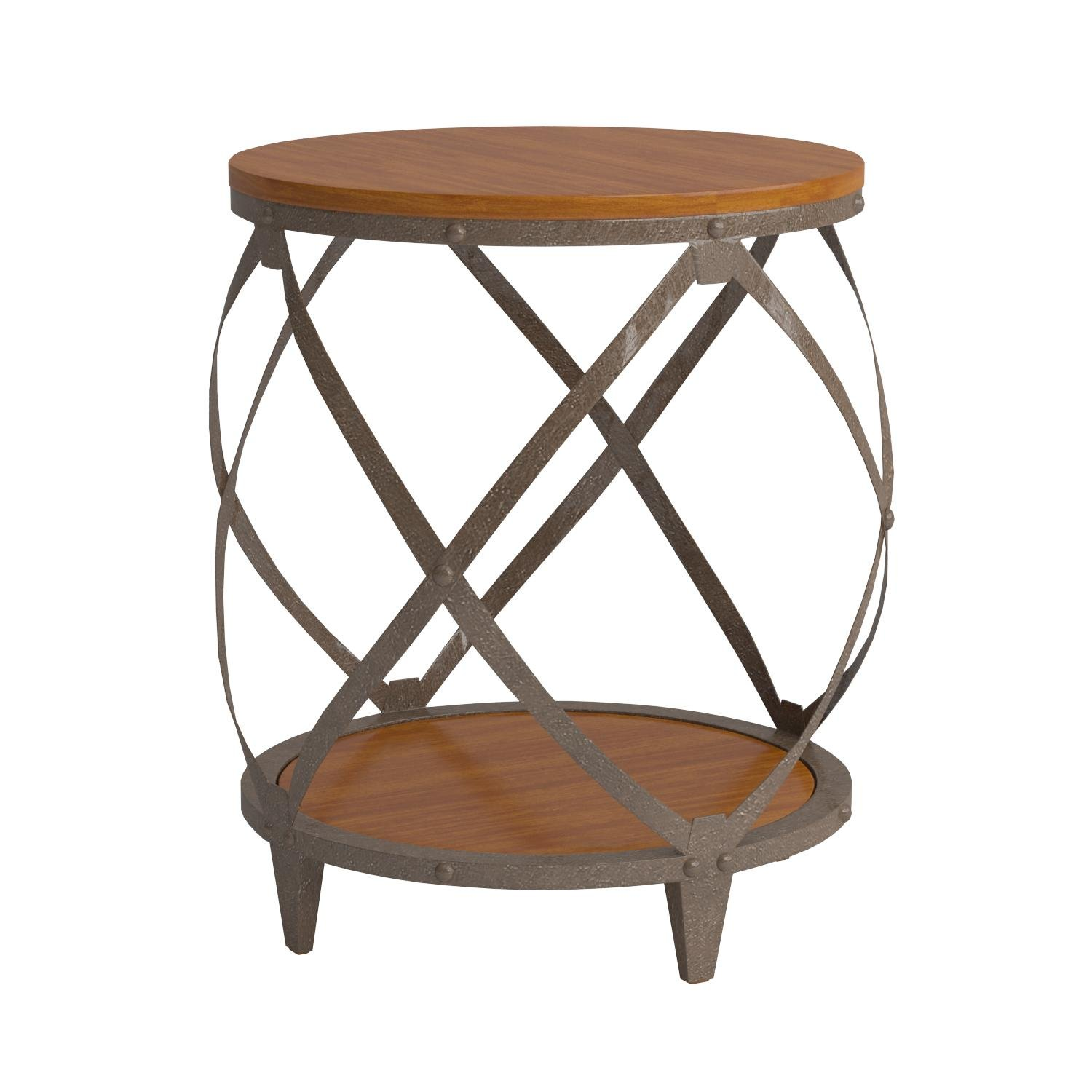 metal accent table with drum shape brown vjfaclgl shaped west elm parsons coffee stackable outdoor tables round dining room and chairs kitchen lamps garden furniture bookcase