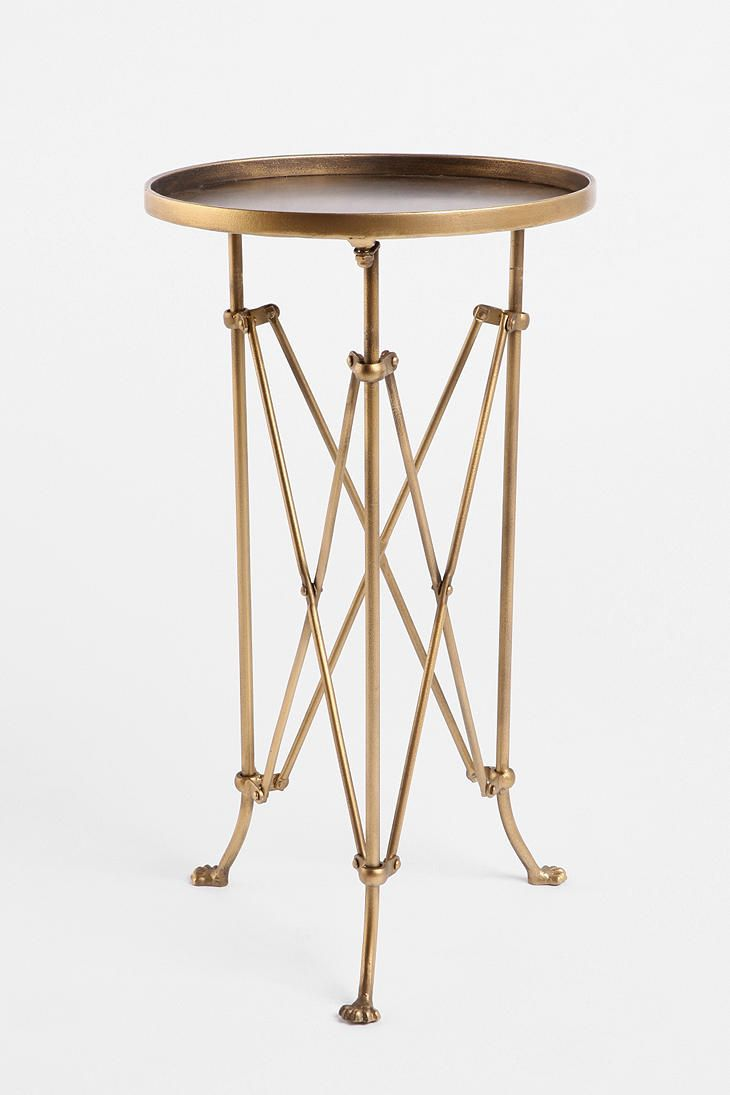 metal accordion side table urban outfitters home wishlist antique gold faceted accent with glass top solid hardwood end tables wood nesting outdoor fireplace barn door normande