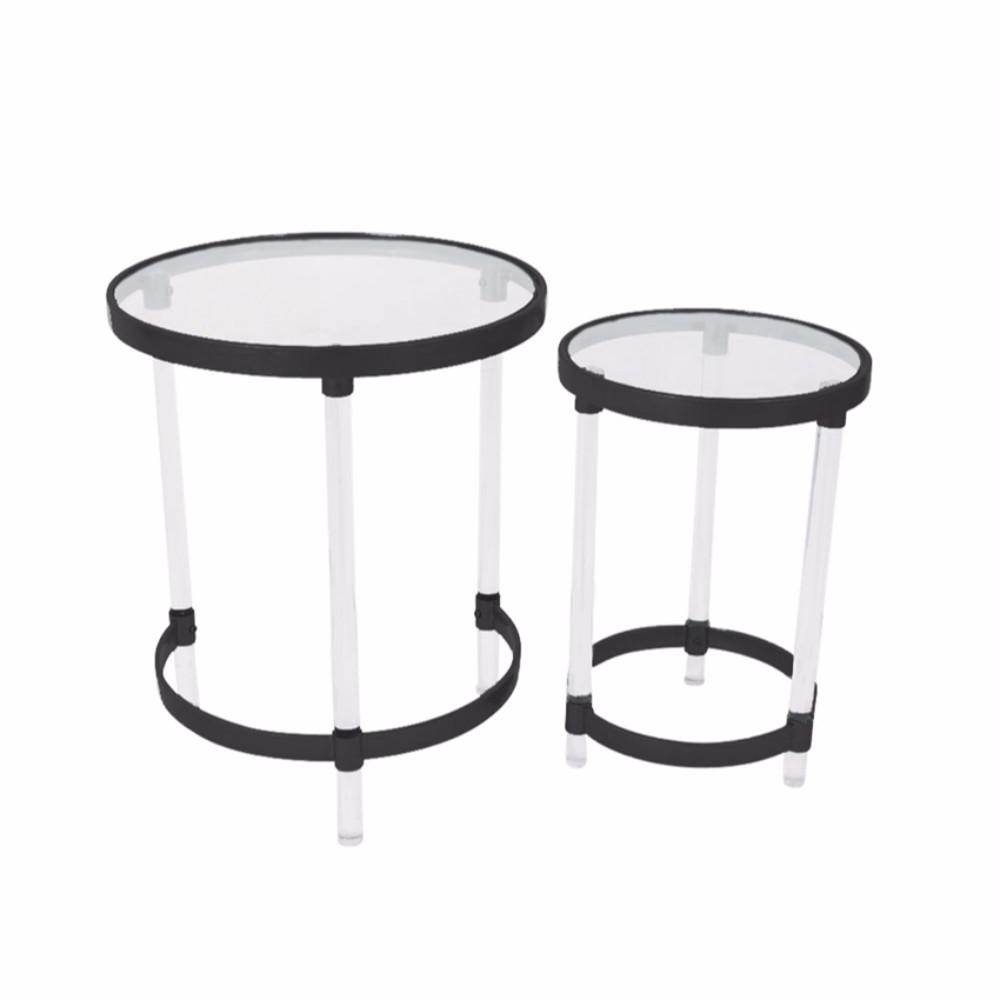 metal acrylic accent tables set clear and black table living room lamps backyard furniture light brown end target windham coffee outdoor rocking chair oriental ginger jar narrow