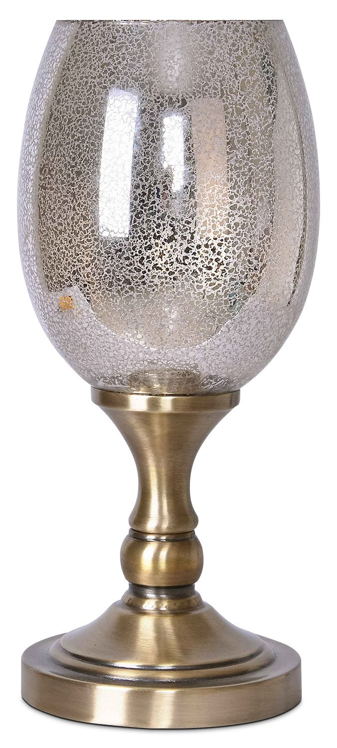 metal and mercury glass uplight table lamp the brick accent lamps lamplampe eclairage vers haut verre mercure bedside laptop side yard furniture dining chairs kijiji for living