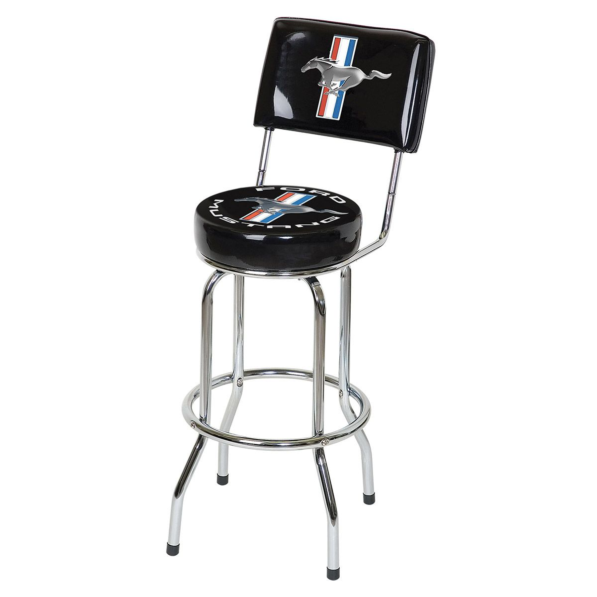 metal bar stools calgary probably outrageous amazing black ford mustang vinyl swivel backrest stool game room decor with retroplanet outdoor backless padded counter height target