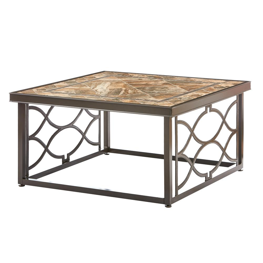 metal black patio tables furniture the home decorators collection outdoor coffee accent table richmond hill heather slate square alexa smart ikea childrens storage solutions