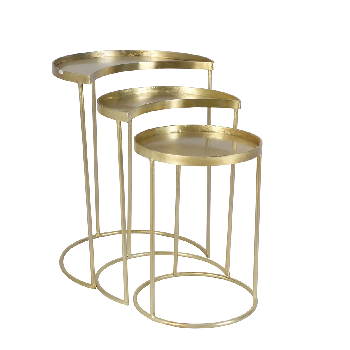metal crescent round accent tables gold sagebrook home iron table log for pricing and availability material large coffee with storage high bedside garden set interior ideas
