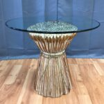 metal desk legs probably super carved wood end table idea sculptural wheat sheaf with glass top past perfect tables toronto diy rustic round easter tablecloth iron bench pottery 150x150