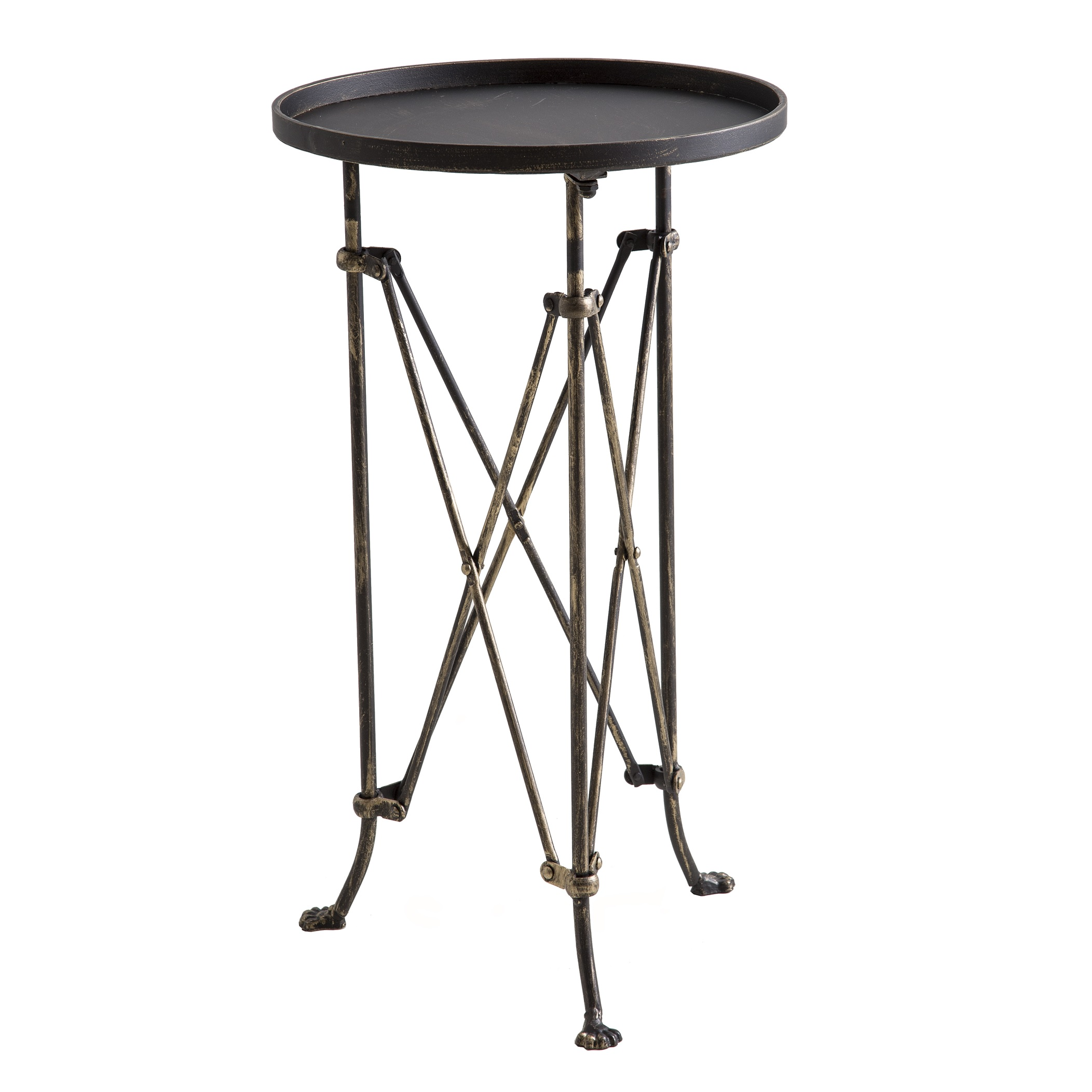 metal drink table lam bespoke yellow accent tables bronze ashley furniture white dresser homesense bar stools small outdoor wrought iron tea pier imports end pottery barn leather