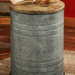 metal drum side table wild wings cannes accent wood modern nightstand lamps outdoor iron reclaimed kitchen small teak wicker sofa garden cover coffee patio umbrella canopy blue 150x150