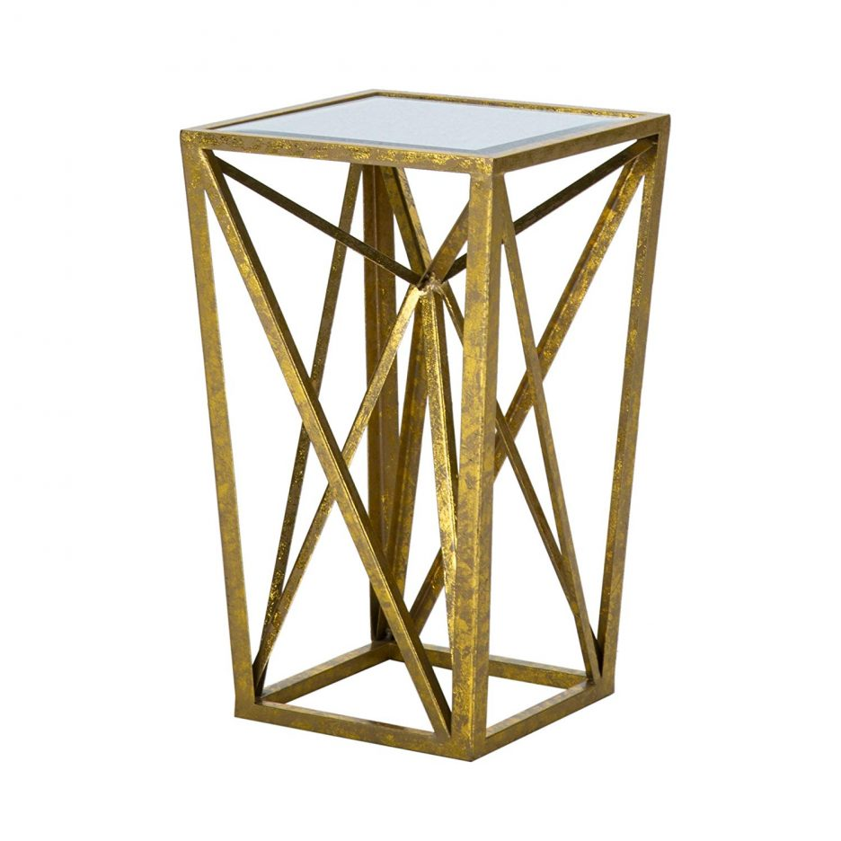 metal end table with drawer gold and stone coffee bright colored accent tables geometric silver drum side white legs farmhouse small oak for living room distressed round bar