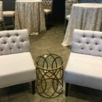 metal eyelet end table party rentals delivered side accent return previous page new prev average coffee height marble nesting kids bedside ashley furniture occasional set trestle 150x150