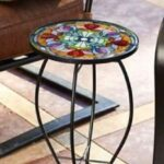 metal garden accent chair gardening flower and vegetables tiffany glass end side table patio porch outdoor furniture meyda lamp shades white marble top wooden chairs pair lamps 150x150