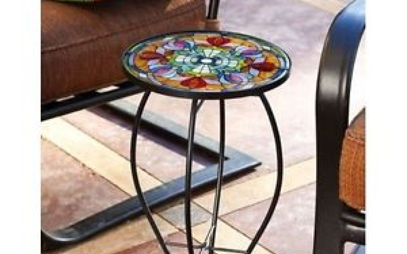metal garden accent chair gardening flower and vegetables tiffany glass end side table patio porch outdoor furniture meyda lamp shades white marble top wooden chairs pair lamps