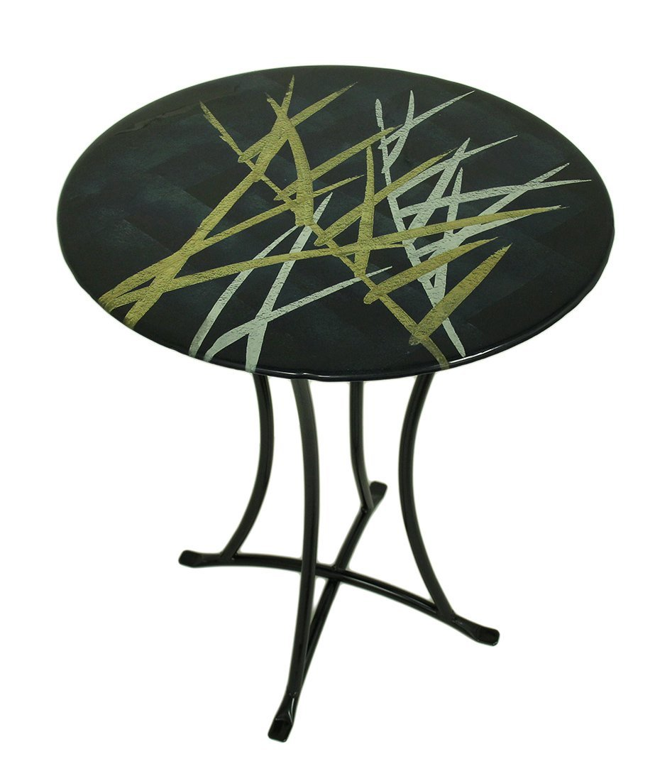 metal glass accent tables find black gold table get quotations inch abstract fused art with acrylic snack outside storage bench ikea garage grinch inflatable steel trestle thin
