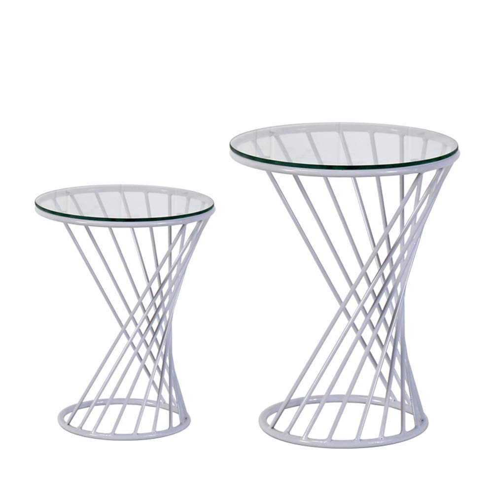 metal glass accent tables find table get quotations meiduo side nesting round end with top colors color tall marble white bedside kmart large coffee cover gray blue and navy