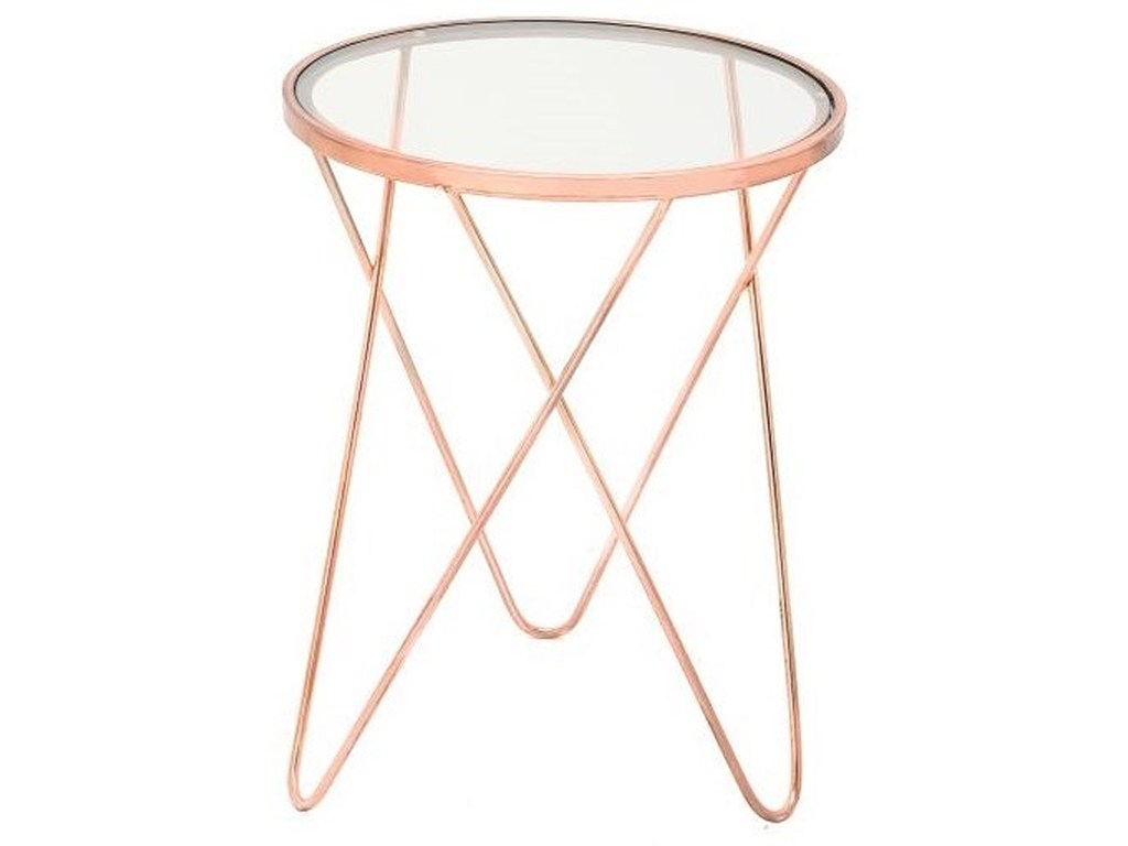 metal glass copper accent table furniture uma products enterprises inc color threshold furnituremetal small square coffee wine cabinet mirror top end leick corner desk wall decor