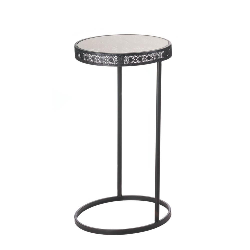 metal half moon accent table carafina home decor black carpet threshold glass coffee and side tables rona patio furniture beige tablecloth red umbrella modern standard lamps light