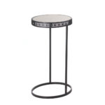 metal half moon accent table whole eastwind gift what console chairs with couch tray ikea pier one dining christmas cloth set round oak narrow hallway small wheels lamp tables for 150x150