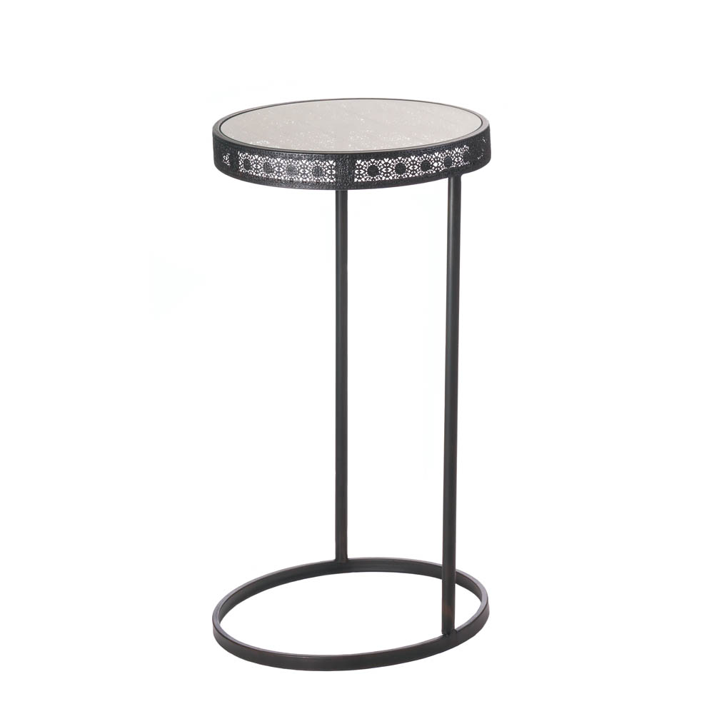metal half moon accent table whole eastwind gift what console chairs with couch tray ikea pier one dining christmas cloth set round oak narrow hallway small wheels lamp tables for