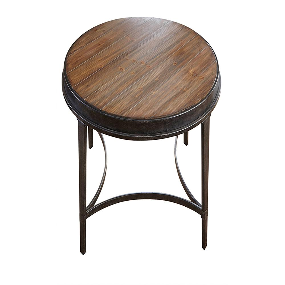 metal industrial end table tables accent the brown vanora gianna round antique oval side silver mirrored coffee storage cabinets wood mid century modern rugs black and gray large