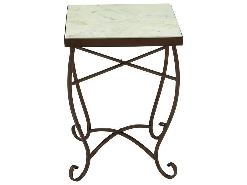 metal marble square accent table furniture uma products enterprises inc color furnituremetal west elm adjustable floor lamp garden and chairs high corner kitchen door knobs under
