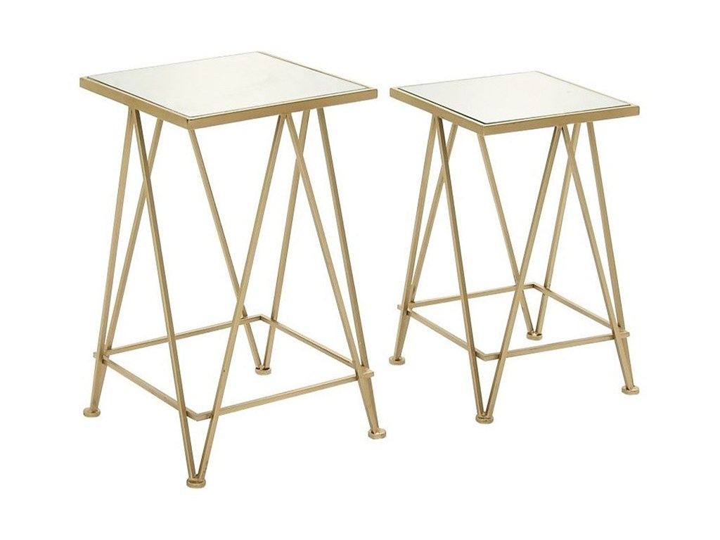 metal mirror accent table set furniture uma products enterprises inc color and furnituremetal mid century modern dining chairs rustic coffee end sets small bench bedside carpet