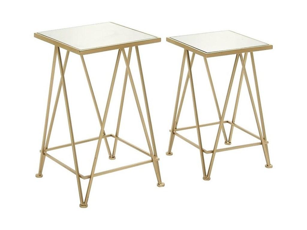 metal mirror accent table set furniture uma products enterprises inc color furnituremetal modern dressers toronto pottery barn surveyor floor lamp safavieh treasures wood drum