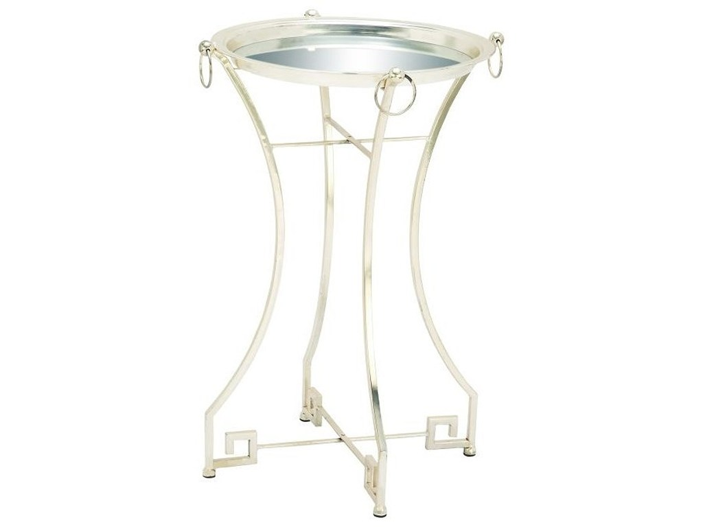 metal mirror accent table silver furniture uma products enterprises inc color and furnituremetal narrow sofa teal coffee tray kmart dining black lamp modern white farm style
