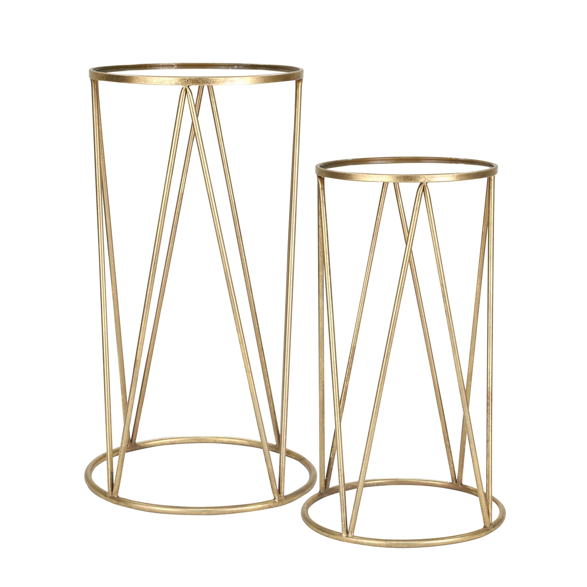 metal mirror accent tables gold sagebrook home table log for pricing and availability material ikea small storage with drawer shelf plastic patio side outdoor dining furniture