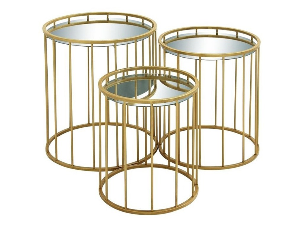 metal mirror accent tables set furniture uma products enterprises inc color table and furnituremetal pottery barn headboard ships lantern lamp tablecloth for inch round black