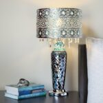 metal mosaic hanging glass crystals silver inch high table lamp accent indoor outdoor buffet sideboard narrow mirrored bedside white porcelain tuscan hills square patio umbrella 150x150