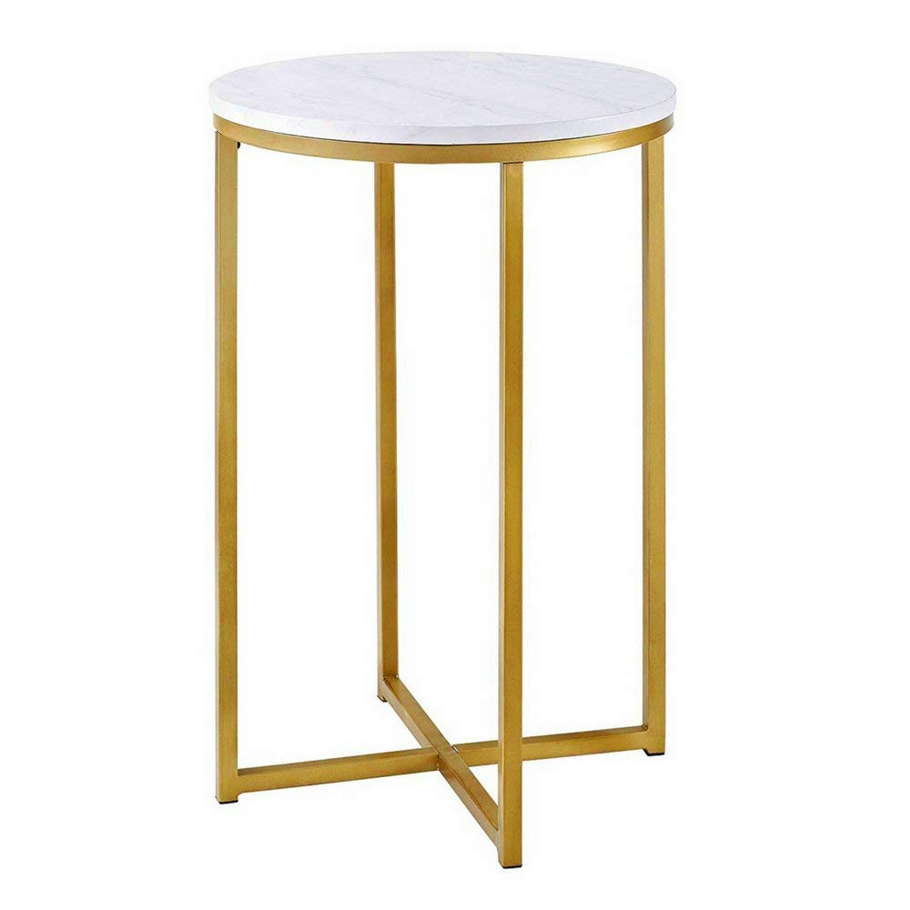 metal nightstand table find victorian style accent get quotations round side gold faux marble end metallic base navy chair white pedestal tall thin bedside dale tiffany butterfly