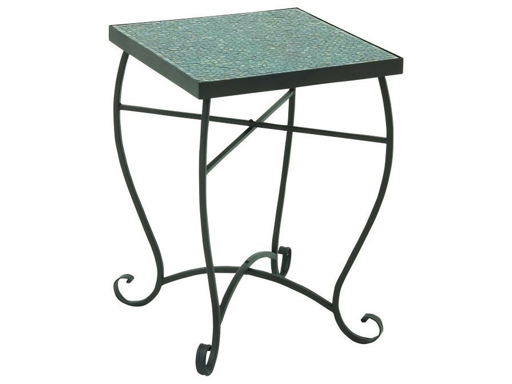 metal turquoise mosaic accent table furniture uma products enterprises inc color threshold furnituremetal red home decor accents iron outdoor pool covers bunnings concrete console