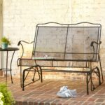 metal wrought iron patio furniture outdoors the hampton bay outdoor gliders jackson accent table loveseat glider marble desk pier one imports tables antique chairs ikea small side 150x150