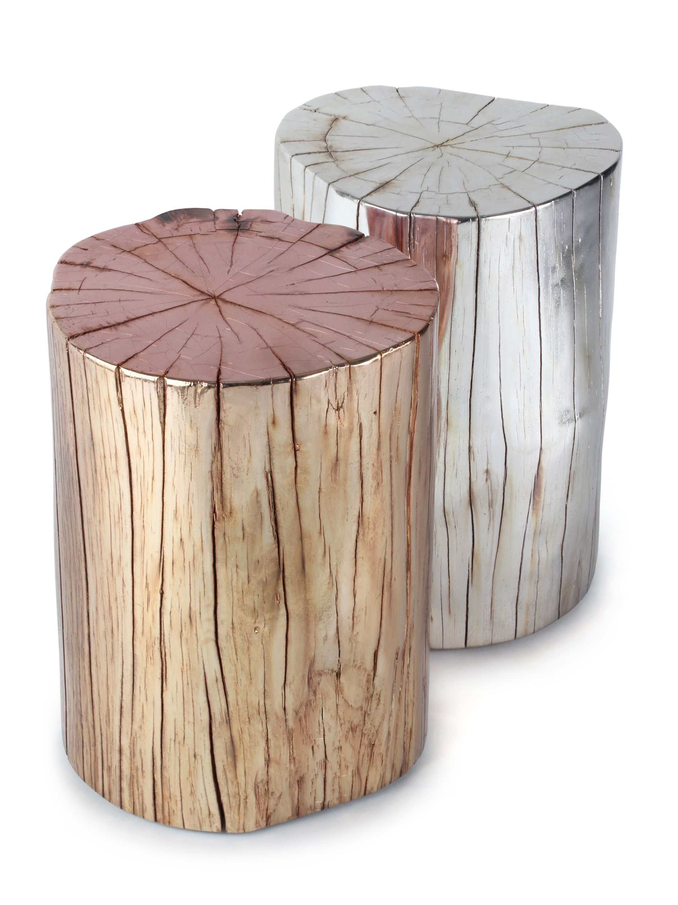 metallic tree stump side table boho home wood accent modern decor ideas cherry nightstand fire pit rectangle patio pier lamps ikea outdoor chairs yellow umbrella ceiling lamp