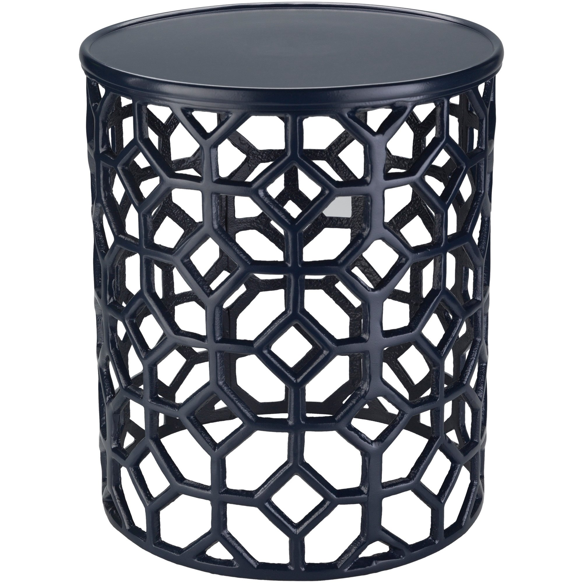 meuric navy transitional inch metal accent table free shipping today funky garden furniture harvest dining pottery barn white standing mirror chest small folding end behind couch