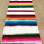 mexican serape table runner white colorful accents accent side outdoor bbq pier one dining furniture gray coffee and end tables copper small living wide low narrow pieces for room 150x150