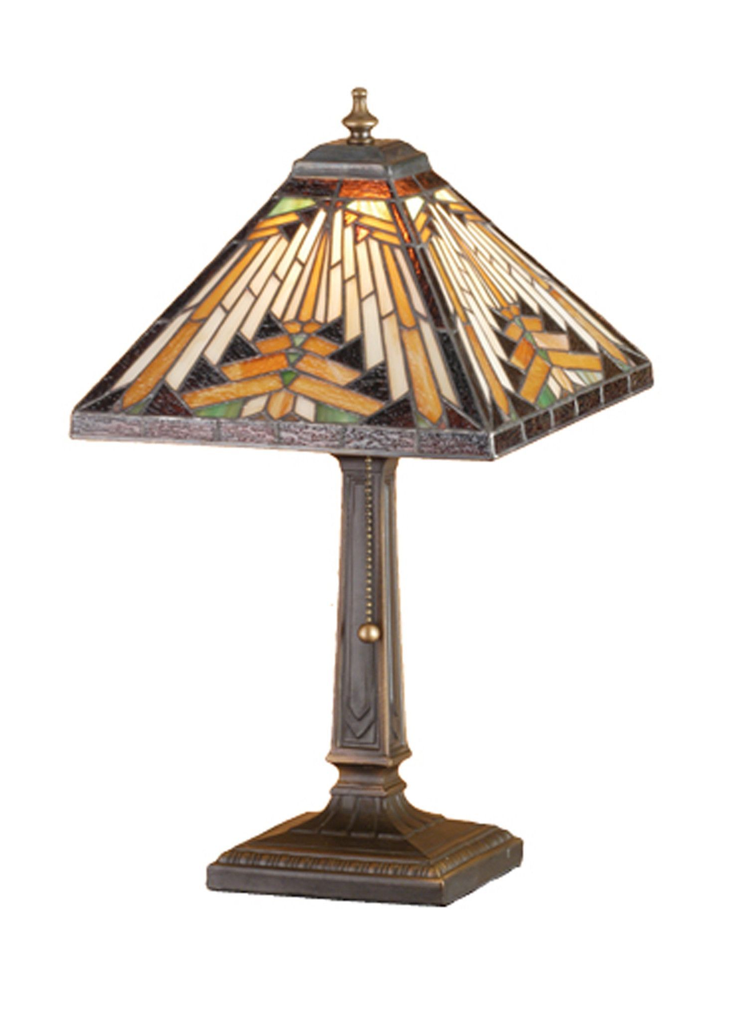 meyda nuevo mission accent lamp tiffiney such table tiffany lamps ethan allen dining room sets simon lee furniture blue chest chairs counter height rectangular magnussen side