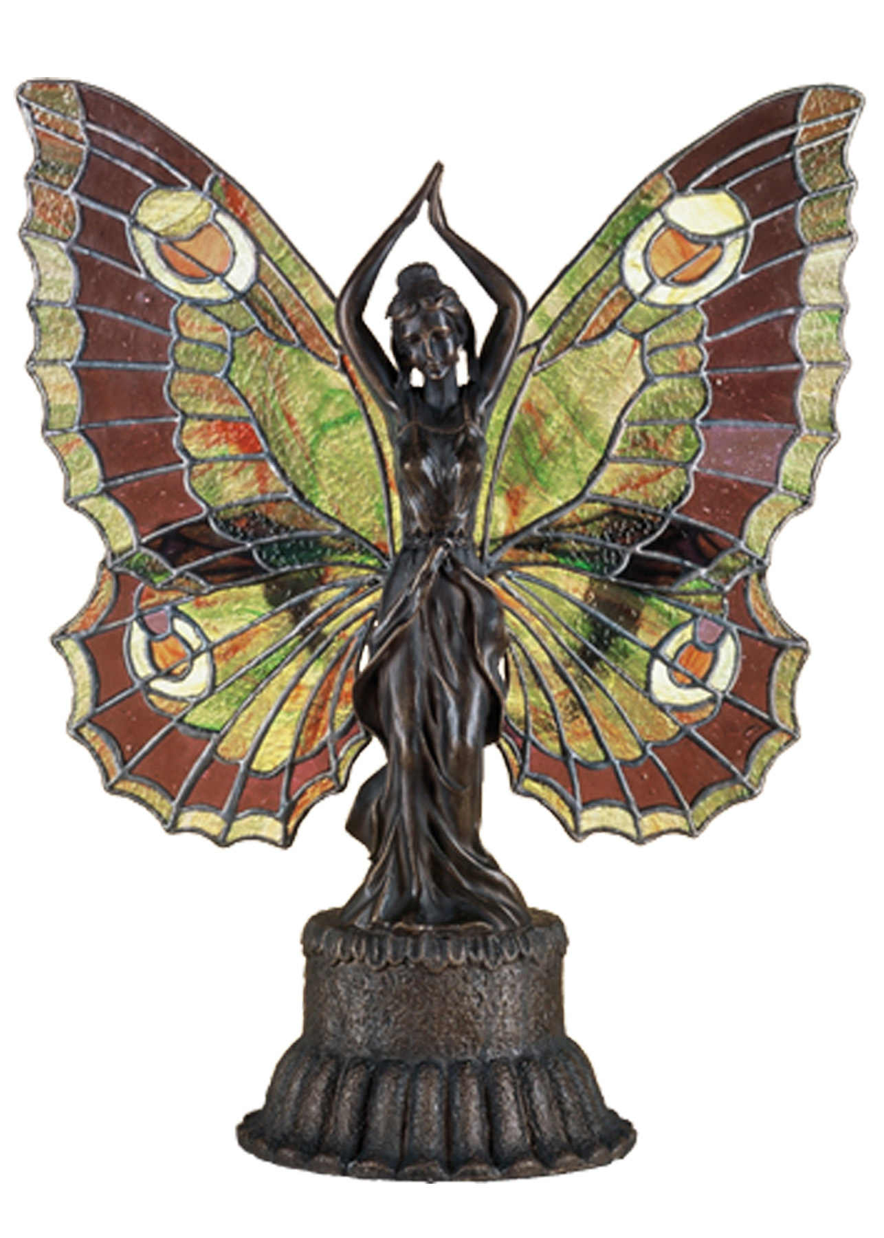 meyda tiffany butterfly lady accent lamp glass table decorative wine rack lighting lamps long console with drawers outside chairs oval cover gallerie sofa bedside lights jeromes