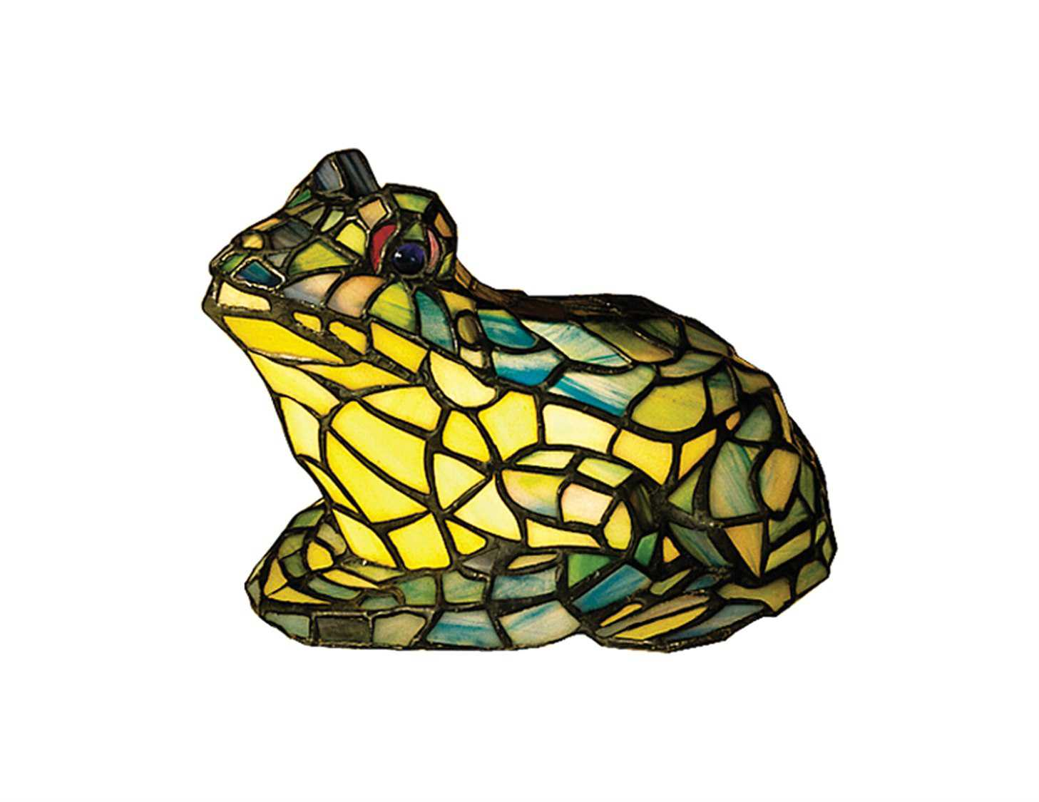 meyda tiffany frog glass multi color accent table lamp lamps elephant sculpture vintage marble coffee chestnut gold modern blue side with top wide nightstand drawers entry room