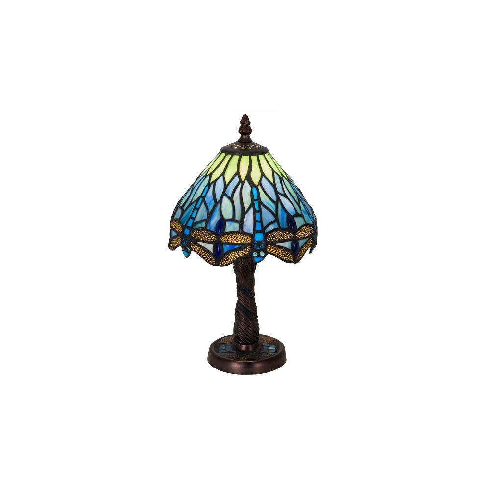 meyda tiffany hanginghead dragonfly light stained glass accent table lamp from the collection butterfly free shipping today very small nightstand antique that folds out coffee