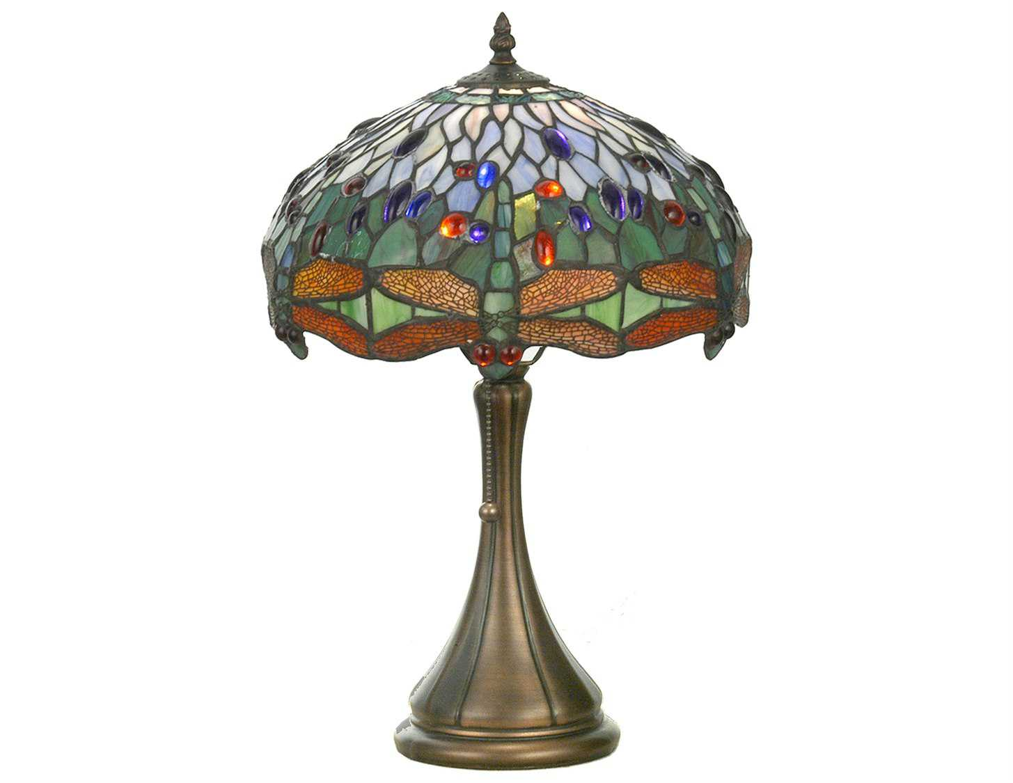 meyda tiffany hanginghead dragonfly multi color accent table lamp lamps touch zoom furniture for tiny spaces blue side vintage marble coffee entryway console rectangle glass white