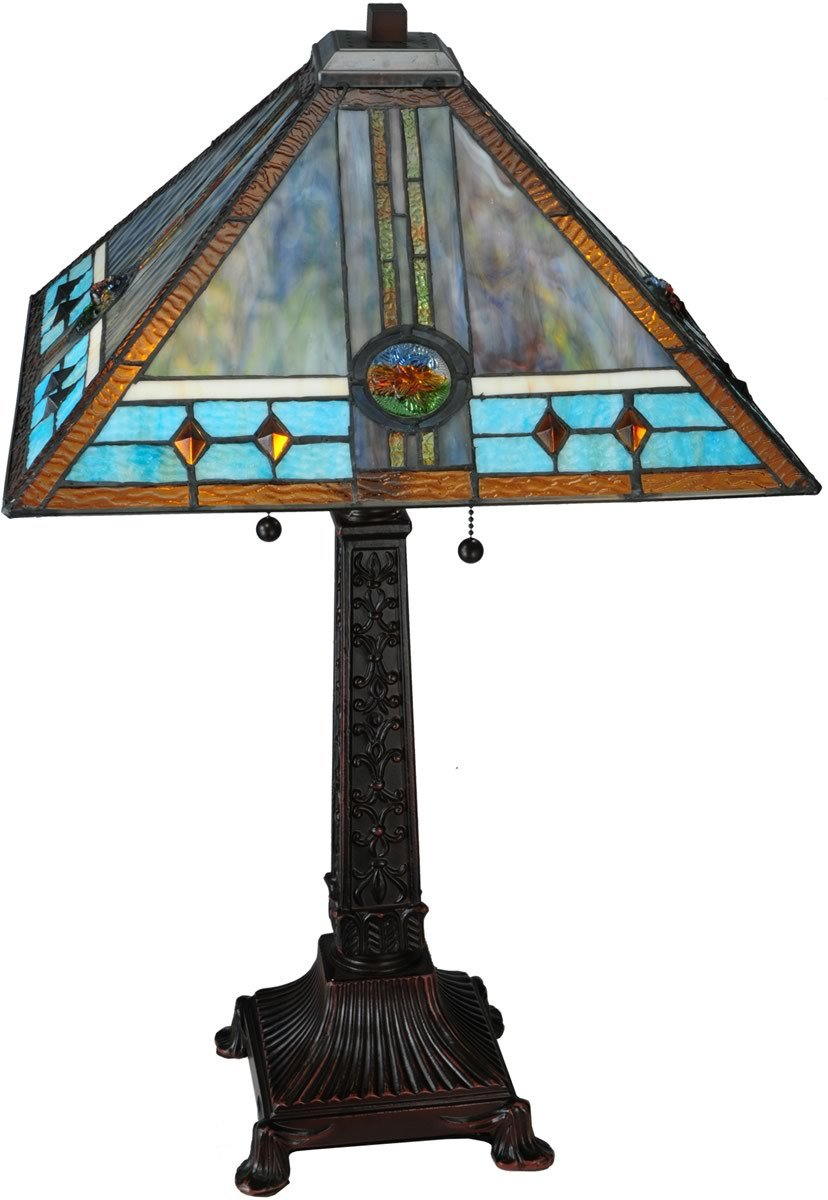 meyda tiffany mission rose light table lamp brown lampsusa accent lamps counter height rectangular dining girls desk simon lee furniture entry room ethan allen chairs entryway