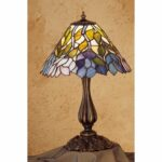 meyda tiffany stained glass accent table lamp from the classic wisteria collection free shipping today lazy susan big modern coffee tables storage chest cabinet round side for 150x150