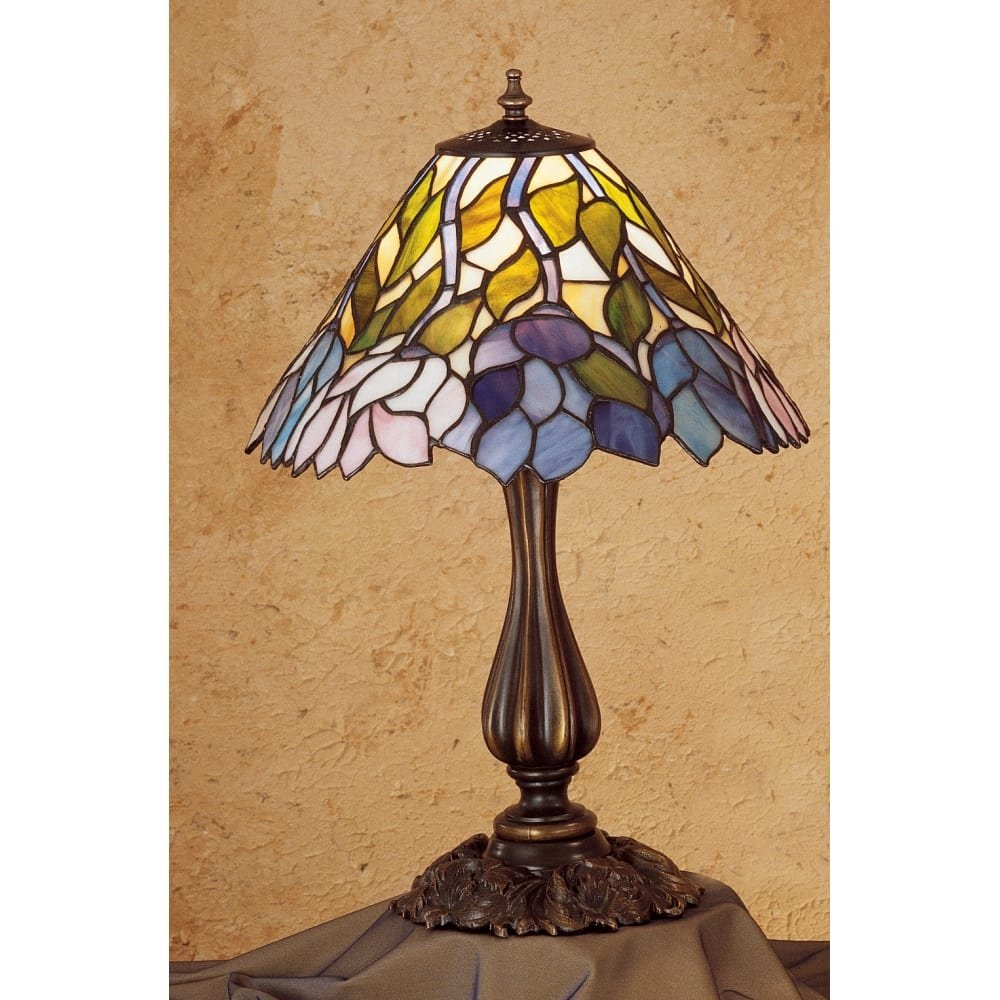 meyda tiffany stained glass accent table lamp from the classic wisteria collection free shipping today lazy susan big modern coffee tables storage chest cabinet round side for