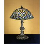 meyda tiffany stained glass accent table lamp from the fishscale collection free shipping today home decor accessories dark wood chest coffee tulip tile patio set outdoor 150x150