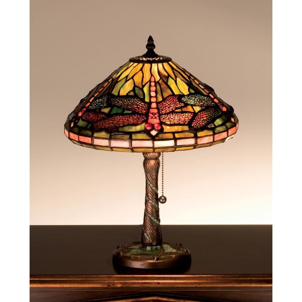 meyda tiffany stained glass accent table lamp from the mosaic dragonfly collection free shipping today farmhouse style chairs bronze coffee latin percussion instruments west elm