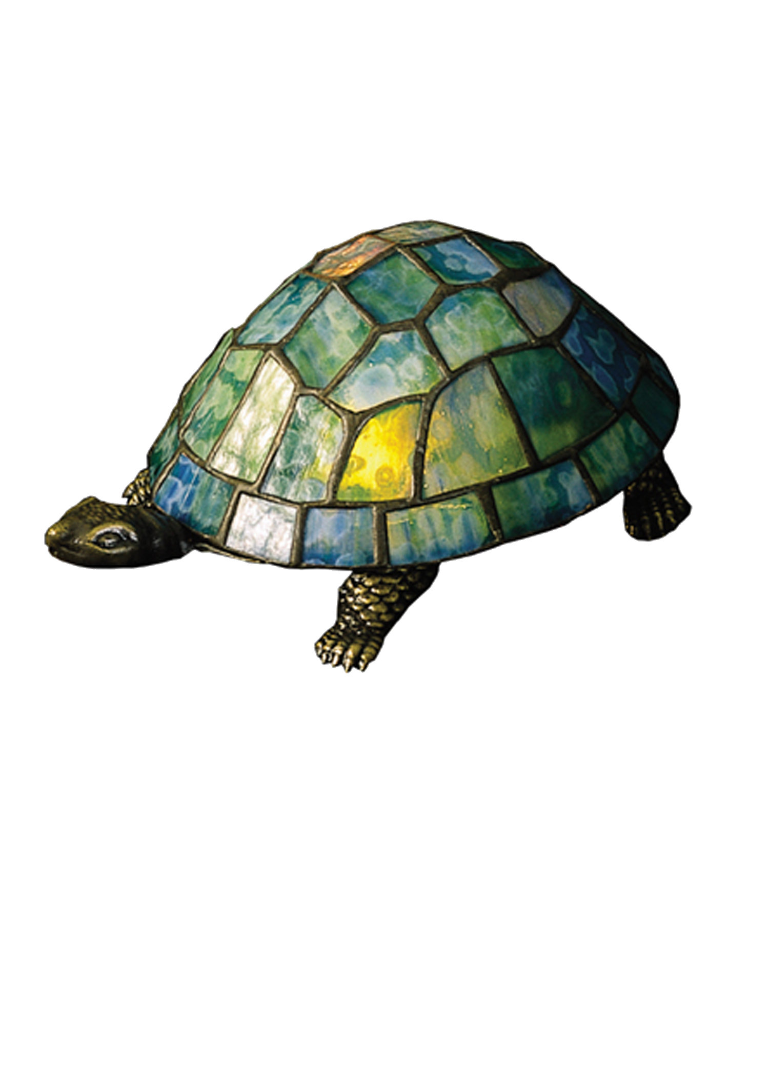 meyda tiffany turtle glass accent table lamp lamps console with doors counter height rectangular dining gold side marble top magnussen vintage coffee black iron end formal room