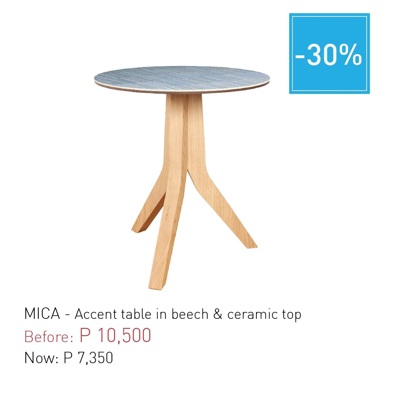 mica accent table beech ceramic top habitat manila outdoor tall silver lamps wood coffee with drawers upcycled dining bunnings chairs and tables painted ideas pipe desk seattle